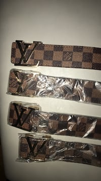 Brown and black louis vuitton leather belt Mississauga, L5G