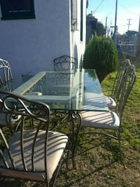 rectangular clear glass-top table with chairs Manteca, 95337
