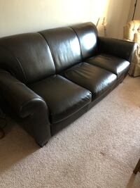 Brown Leather 3-Seat Sofa Naperville, 60565