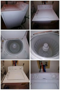 white front-load clothes washer Prince Frederick, 20678