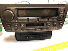 OEM LEXUS IS 300 RDS RADIO 6CD DISC CHANGER TABE PLAYER STEREO UNITE RECEIVERS