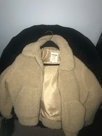 Beige Teddy Sherpa Jacket
