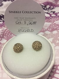 H&B sparkle ball earing  12mm