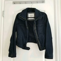 XS Abercrombie navy zip up Richmond, V6Y 1J4