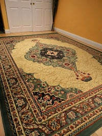Traditional Green Persian Rug Area 8x11 Living Room Carpet