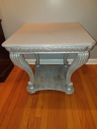 Soft gray and silver metallic table Belleair, 33756