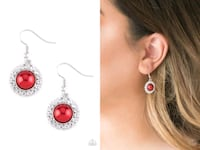 Fashion show celebrity red earring Gaithersburg, 20878