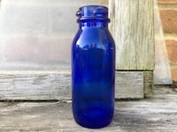 "1950's Cobalt ""Bromo-Seltzer"" Medicine Bottle Chicago"