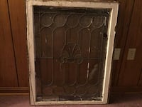 Antique Architectural Salvage Lead Stained Glass Wooden Window Annapolis