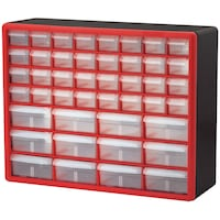 Akro-Mils 10144REDBLK 44-Drawer Hardware & Craft P Toronto