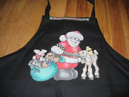 Christmas Santa and Toys and Rudolph Apron