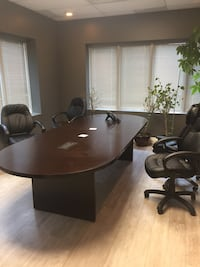 Large board room table used in a law firm. Hoping to get $500 but will take serious offers possibly. Matching Cardenas with nice storage space, 2 lockable areas with keys. The interiors has never been used. Asking only $425.00 if you want both pieces will Vaughan, L4J 1V9