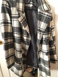 black and white plaid zip-up jacket Bristow, 20136