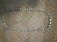 silver chain link necklace with lobster lock Toronto, M5A 3K3