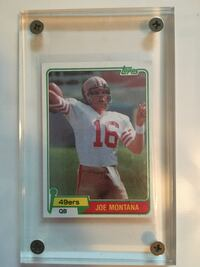 Joe Montana Rookie Card Hof NFL 49ers vintage Rockville Centre, 11570