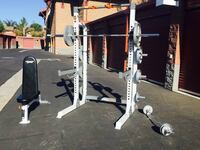 Bench press squat rack / cage fitness Gesr weight set workout & weig Simi Valley, 93063