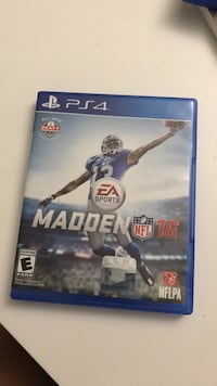Madden NFL 16 PS4 game case Woodbridge, 22192