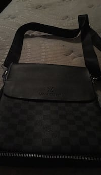 black and gray leather bag Calgary, T2B 2K7