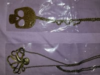 Skull and kraken necklaces New with Tags Lubbock, 79423