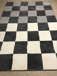 Accent Rug white,gray and black squares styles from Smoke free and Pet Free Home Columbia, 21045