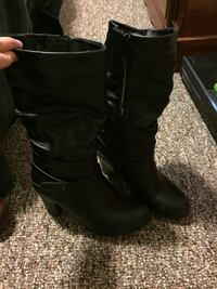 pair of black leather riding boots Chatham, N7L 4P8