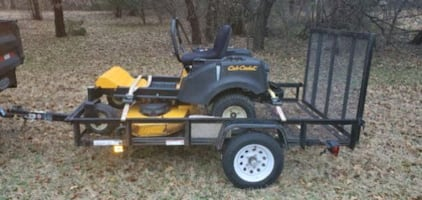 Cub Cadet Zero Turn 46 Inch Cut With Trailer