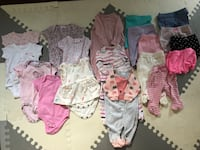 0-3 Month Old Baby Girl Clothes- new price Burlington, L7R 2S3