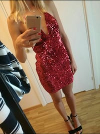Nelly Deep V Sequin Dress  Oslo, 1272