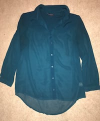 American Eagle Dress Shirt—Teal—Medium