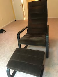 Brown chair with footstool  Fairfax