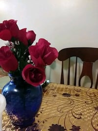 red and blue artificial flower decor 43 km