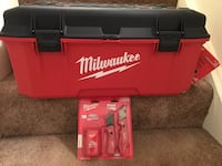 Brand New Milwaukee 26 in. Jobsite Work Tool Box and 2 Pack Knife Cutter with 50 Bonus Blades Springfield, 22151