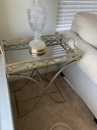 Gold tray table (side table) Falls Church, 22042