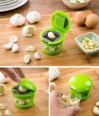 NEW - Garlic press. Fast & Easy to Slice, Mince and Store. Guelph