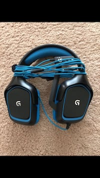 black and blue Logitech corded headset Derwood, 20855