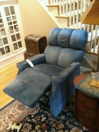 Blue recliner sofa lift chair by Pride