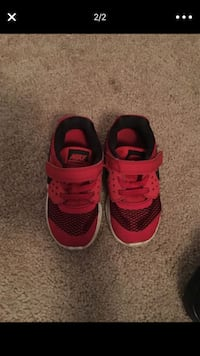 pair of red-and-black Nike basketball shoes Orlando, 32819