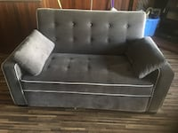 black and gray suede sofa Regina, S4X 2W2