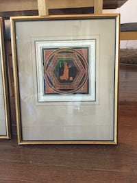 Brown wooden framed painting of brown and white house Markham, L6B 1K7