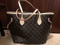 black and brown Louis Vuitton Monogram leather tote bag 3114 km