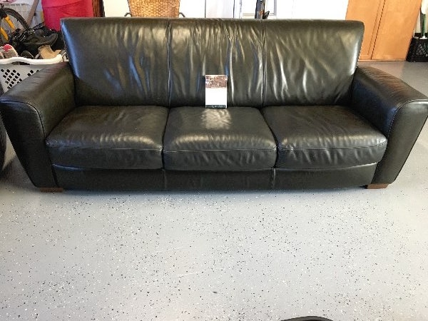 Natuzzi Leather Couch And Matching Recliner