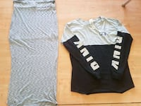 two gray and black crew-neck shirts Edmonton, T5T 0A8