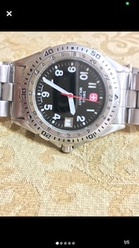 Swiss watch Swiss military watch stainless steel black face features high quality workmanship and have a great reputation!! Cheap!! Edmonton, T5T