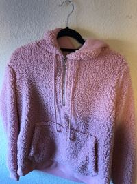 Pink and white zip-up hoodie Victorville, 92395