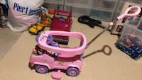 toddler's pink and purple ride-on toy Boyds, 20841