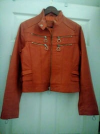 Large Leather Jacket (orange) Plano, 75074