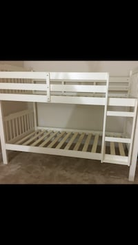 White wooden bunk bed ( can be separated as two individual beds) Virginia Beach, 23456