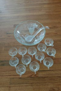 Glass Punch Bowl Set with 12 cups Martinsburg, 25404