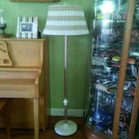 floor lamp with striped shade