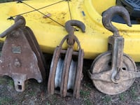 3 large factory or ship pulleys Surrey, V3S 1P3